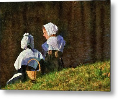 Farm - Farmer - The Young Maidens Metal Print by Mike Savad