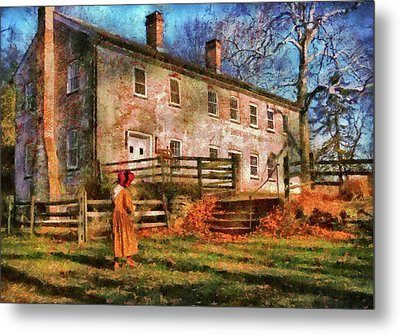 Farm - Farmer - There Was An Old Lady Metal Print by Mike Savad