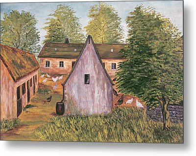 Farm And Farmyard In France Metal Print