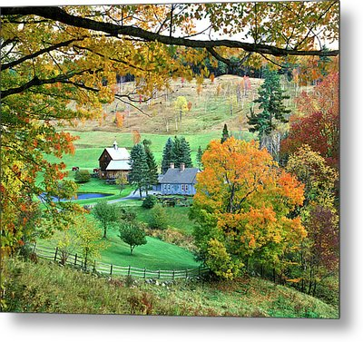 Farm And Fence Vermont Metal Print