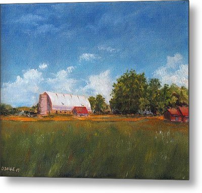 Metal Print featuring the painting Farm by Diane Daigle