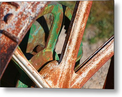 Metal Print featuring the photograph Farm Equipment 2 by Ely Arsha