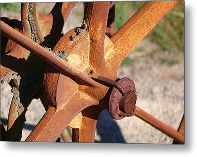 Metal Print featuring the photograph Farm Equipment 3 by Ely Arsha