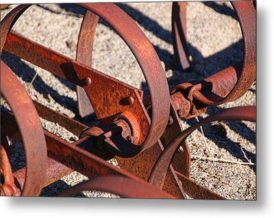 Metal Print featuring the photograph Farm Equipment 4 by Ely Arsha