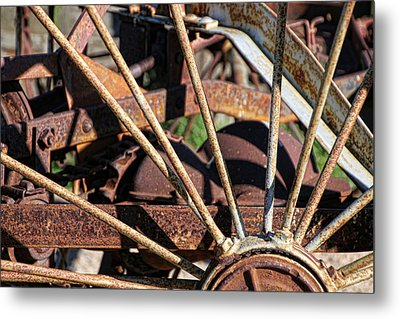 Metal Print featuring the photograph Farm Equipment 5 by Ely Arsha