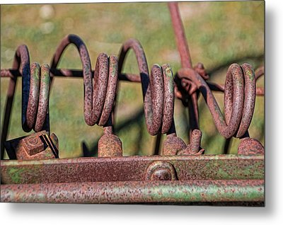 Metal Print featuring the photograph Farm Equipment 7 by Ely Arsha