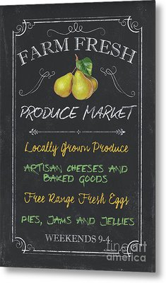 Farm Fresh Produce Metal Print by Debbie DeWitt