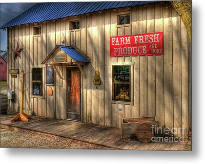 Farm Fresh Produce Metal Print by Mel Steinhauer