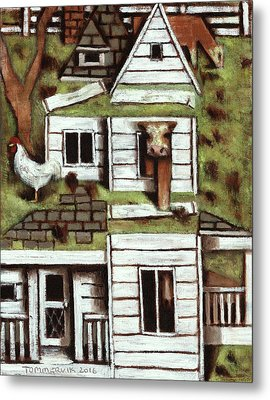 Metal Print featuring the painting Tommervik Farmhouse Art Print by Tommervik