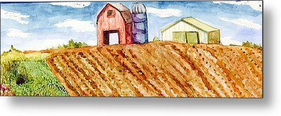 Farm In Spring Metal Print by Jame Hayes