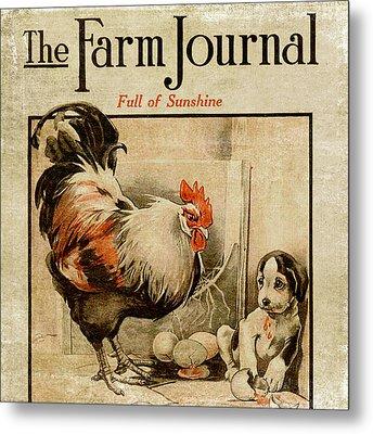 Farm Journal 1921 Metal Print by Bonnie Bruno