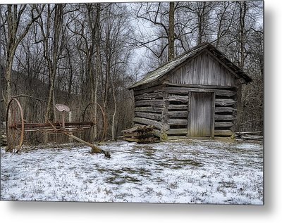 Farm Life From The Past Metal Print by Steve Hurt