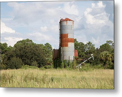Farm Life - Retired Silo Metal Print by Christopher L Thomley