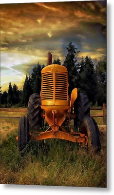 Metal Print featuring the photograph Farm On by Aaron Berg