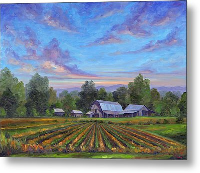 Farm On Glenn Bridge Metal Print
