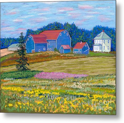 Farm On Prince Edward Island Metal Print by Rae  Smith