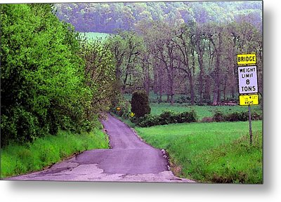 Metal Print featuring the photograph Farm Road by Susan Carella