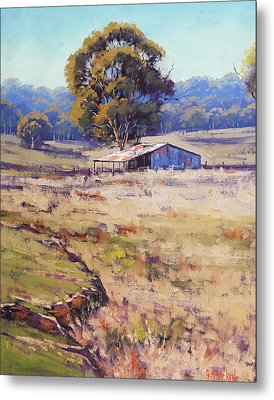 Farm Shed Pyramul Metal Print by Graham Gercken
