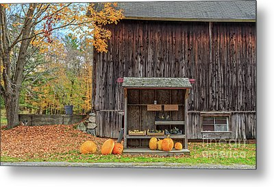 Farm Stand Etna New Hampshire Metal Print by Edward Fielding