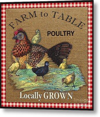 Farm To Table-jp2388 Metal Print by Jean Plout