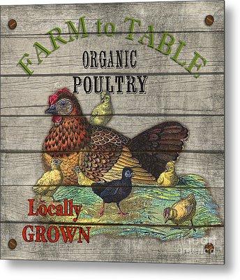 Farm To Table Poultry-jp2630 Metal Print by Jean Plout