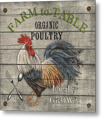 Farm To Table Rooster-jp2628 Metal Print by Jean Plout