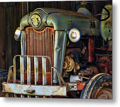 Farm Tractor Two Metal Print