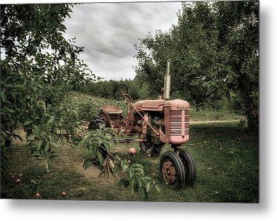 Farmall Tractor On A Farm  Metal Print
