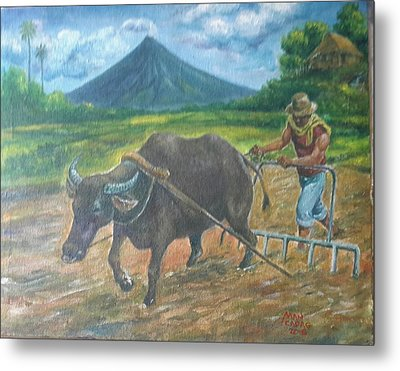 Farmer_2 Metal Print by Manuel Cadag