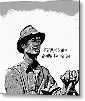 Farmers Are Down To Earth Metal Print by Edward Fielding