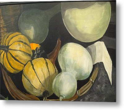 Farmer's Market Gourds Metal Print