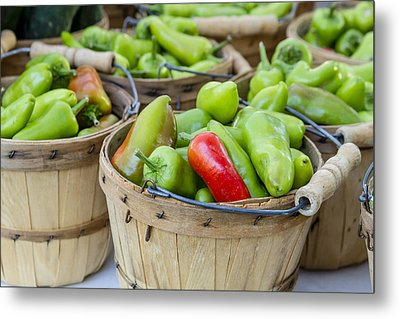 Farmers Market Hot Peppers Metal Print