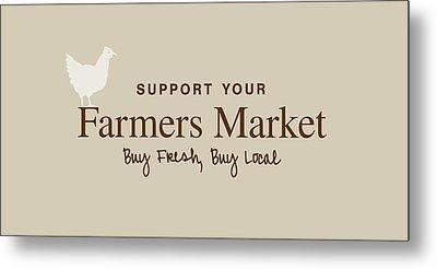 Farmers Market Metal Print by Nancy Ingersoll