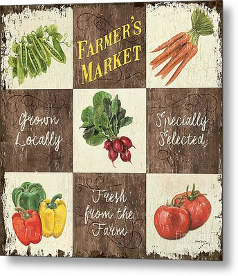 Farmer's Market Patch Metal Print by Debbie DeWitt