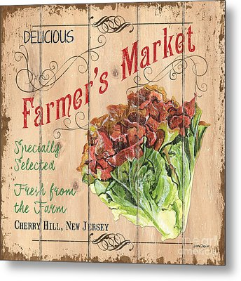 Farmer's Market Sign Metal Print by Debbie DeWitt