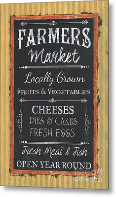 Farmer's Market Signs Metal Print by Debbie DeWitt