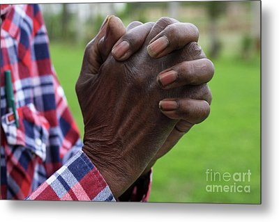 Farmers Prayer Metal Print