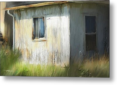 Farmhouse Detail Port Albert Ontario Metal Print by Bob Salo