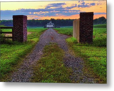 Farmhouse Sunrise - Arkansas - Landscape Metal Print by Jason Politte