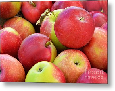 Farmstand  Fresh-picked  Apples Metal Print