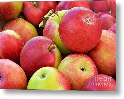 Farmstand  Fresh-picked  Apples Metal Print by Regina Geoghan