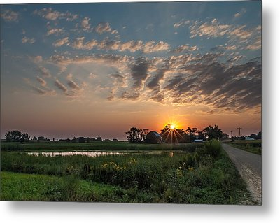 Farmstead Sunrise Metal Print