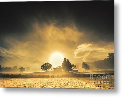 Farmyards And Silhouettes Metal Print by Jorgo Photography - Wall Art Gallery