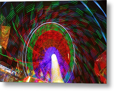 Farris Wheel Crazy Light Abstract Metal Print by James BO  Insogna