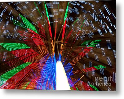 Farris Wheel Light Abstract Metal Print by James BO  Insogna