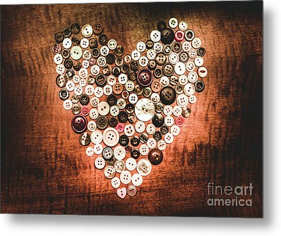 Fashion Button Love Metal Print by Jorgo Photography - Wall Art Gallery