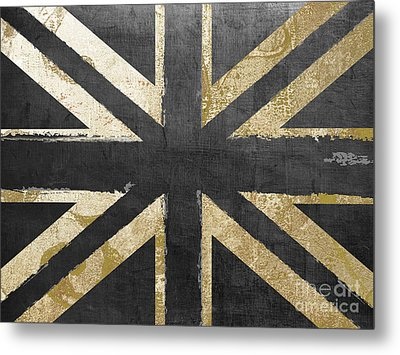 Fashion Flag United Kingdom Metal Print by Mindy Sommers