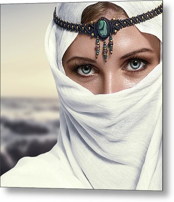 Fashion Woman Metal Print by IPolyPhoto Art