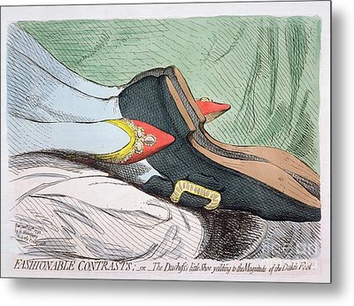 Fashionable Contrasts Metal Print by James Gillray