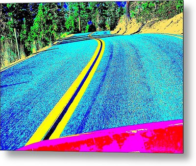 Metal Print featuring the photograph Fast Ferrari Above Tahoe by Don Struke